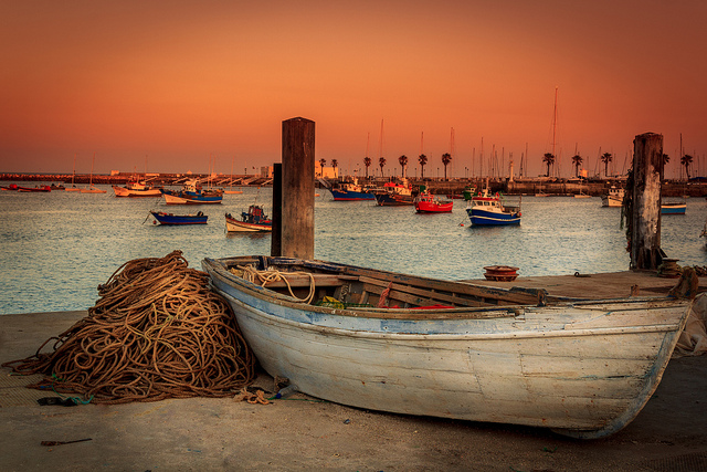 Fishing boats in Portugal, shot by salvadorveiga on Flickr.