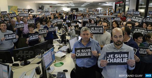 Je Suis Charlie at AFP Paris